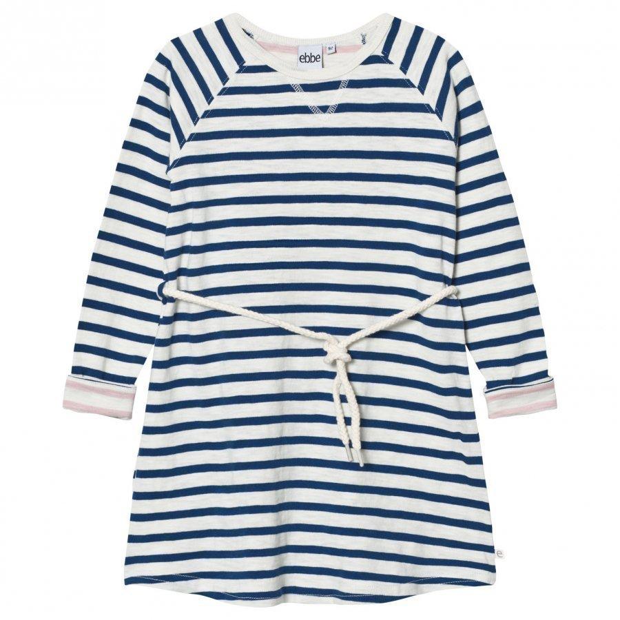 Ebbe Kids Dolce Dress Off White/Seaside Blue Stripe Mekko