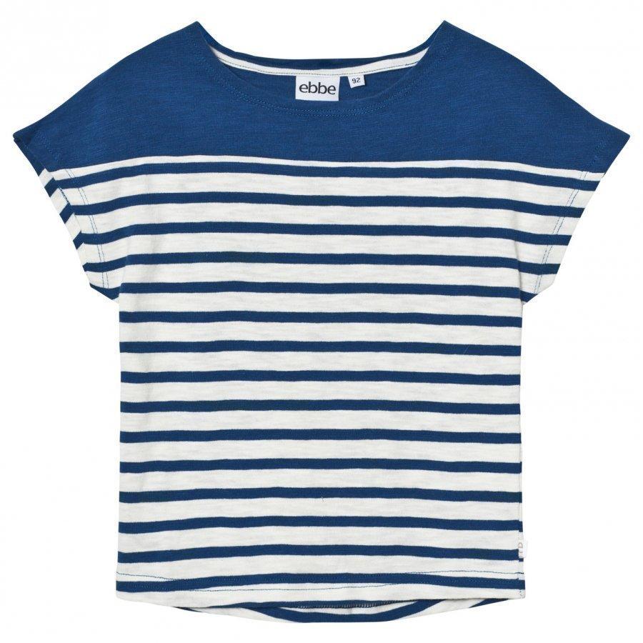 Ebbe Kids Doria Tee Off White/Seaside Blue Stripe T-Paita