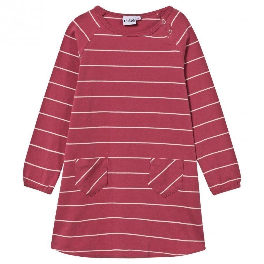 Ebbe Kids Dress Allegra Stripe Autumn Rose/ Offwhite Mekko