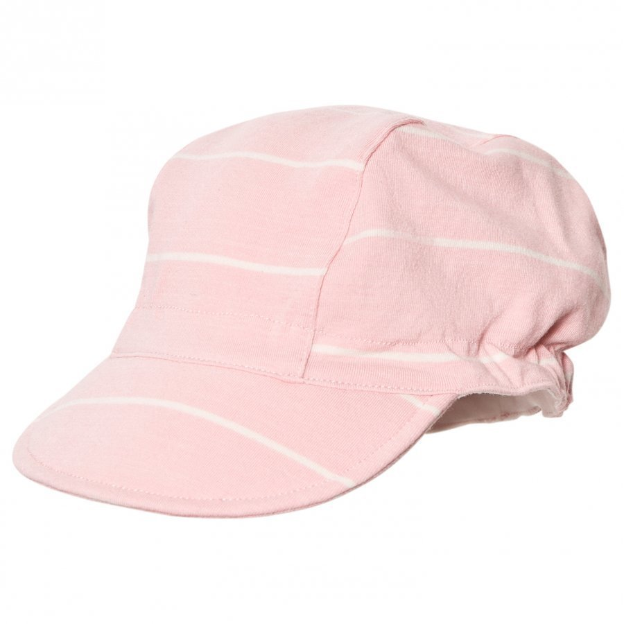 Ebbe Kids Edor Baby Cap Powder Pink/Off White Stripes Aurinkohattu
