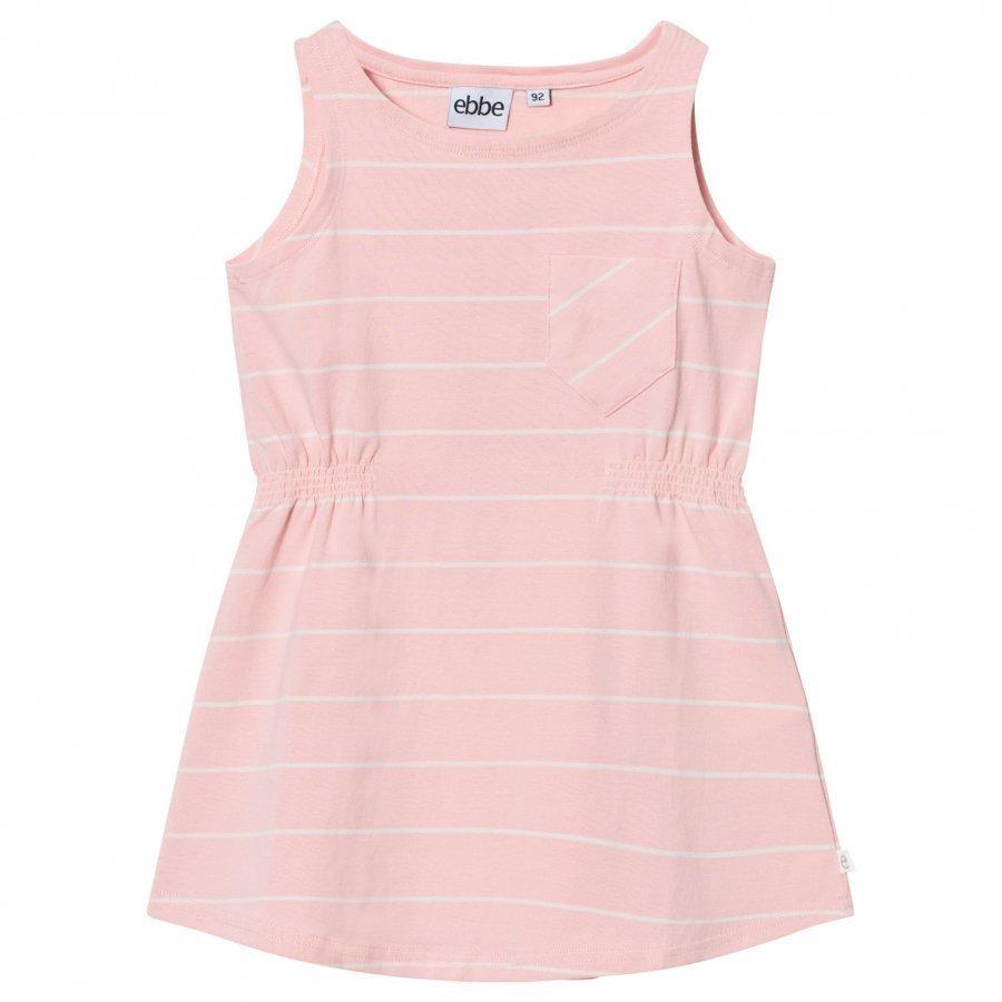 Ebbe Kids Ellis Dress Powder Pink/Off White Stripes Mekko