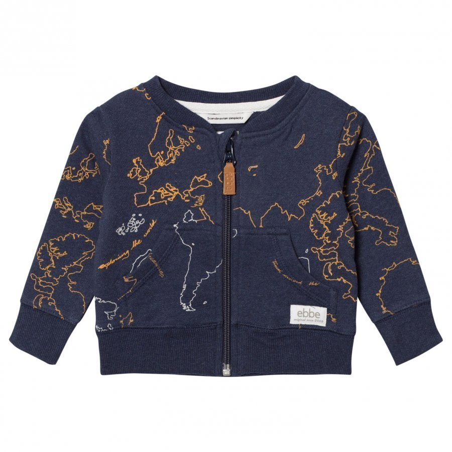 Ebbe Kids Elvo Sweat Jacket Ebbe Maps Oloasun Paita