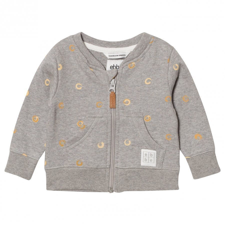 Ebbe Kids Elvo Sweat Jacket Soft Gold Swirls Oloasun Paita