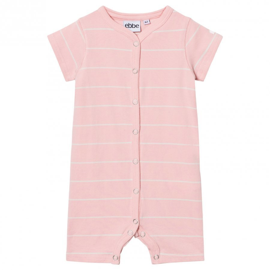 Ebbe Kids Engel Romper Powder Pink/Off White Stripes Romper Puku