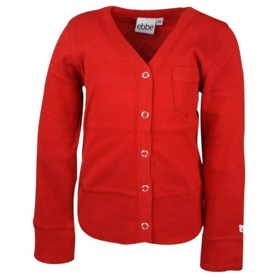 Ebbe Kids Erik Cardigan Red Neuletakki