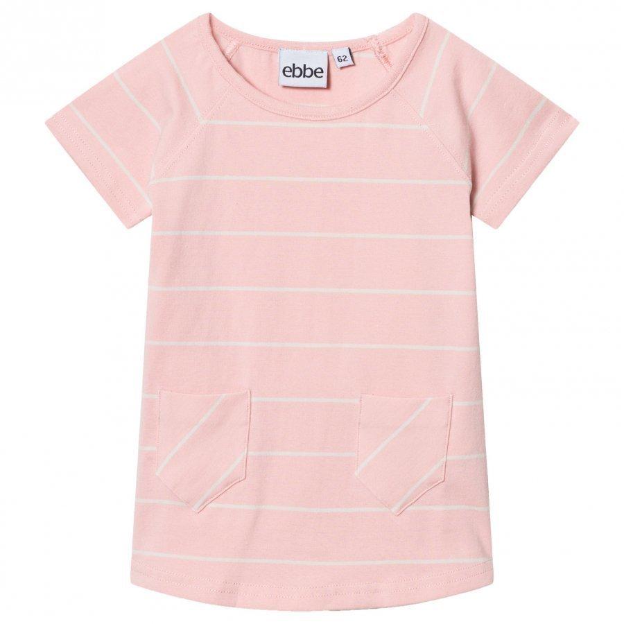 Ebbe Kids Erin A-Line Dress Powder Pink/Off White Stripes Mekko