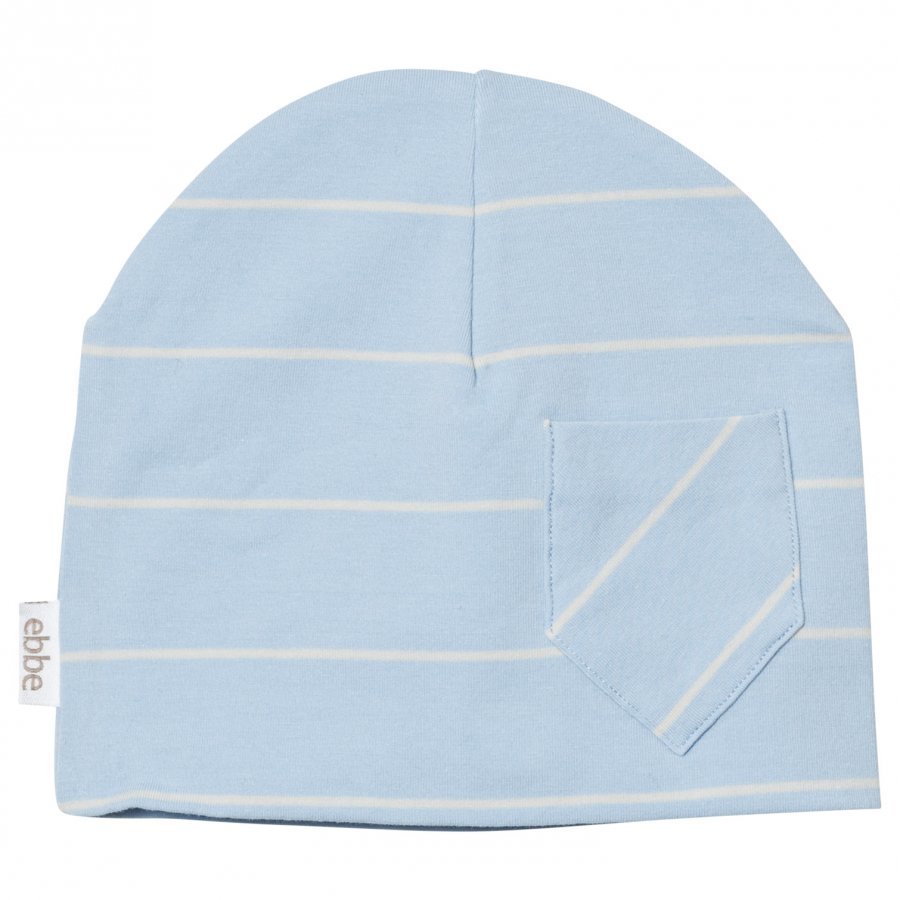 Ebbe Kids Extra Beanie Pale Sky/Off White Stripe Pipo