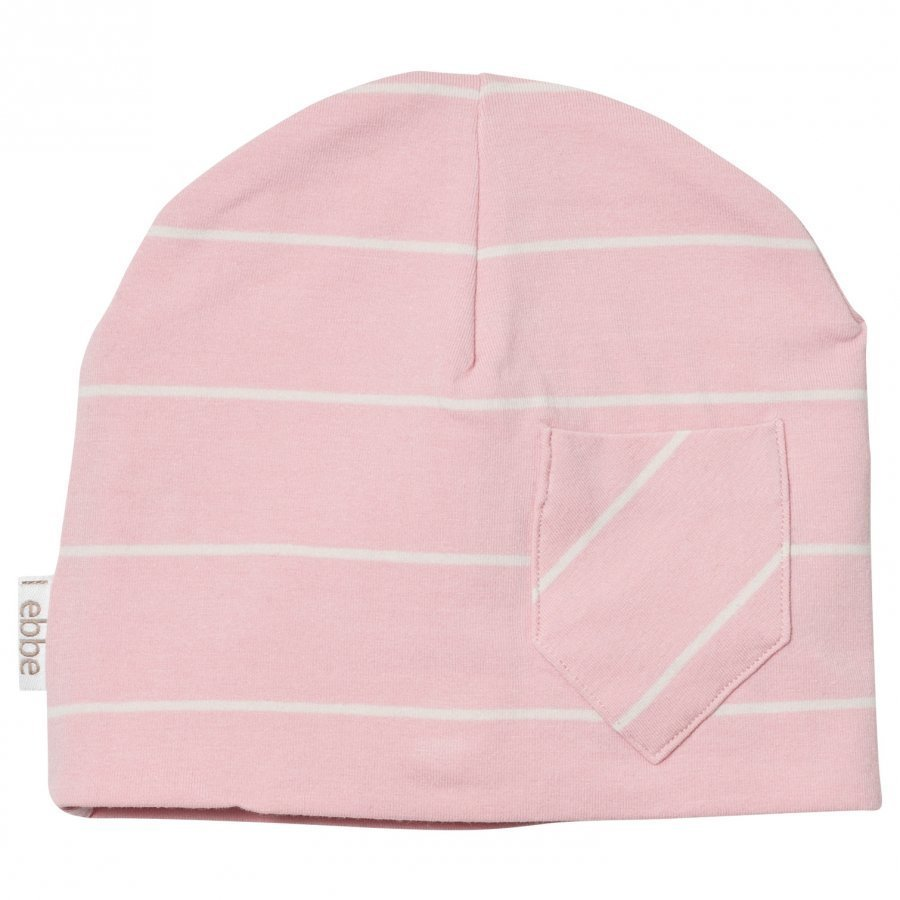 Ebbe Kids Extra Beanie Powder Pink/Off White Stripe Pipo