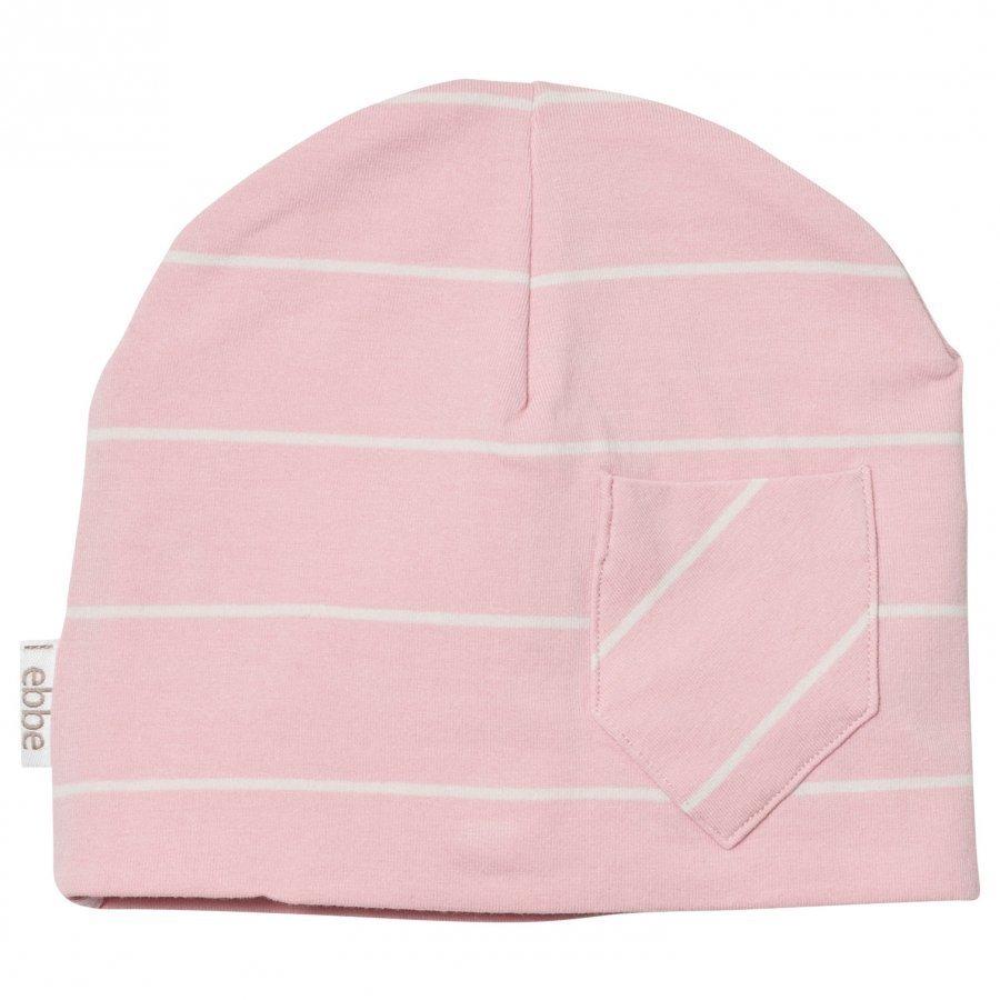 Ebbe Kids Extra Beanie Powder Pink/Off White Stripe Pipo