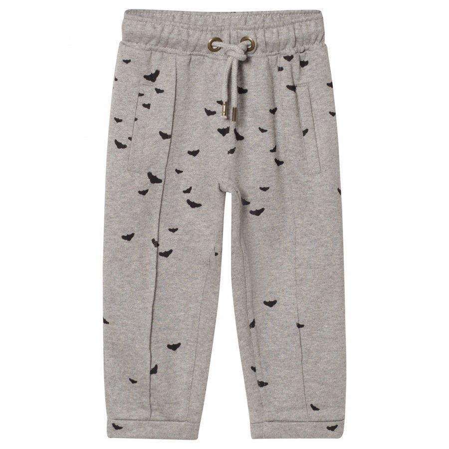Ebbe Kids Farina Sweat Pant Black Woodpeckers Verryttelyhousut