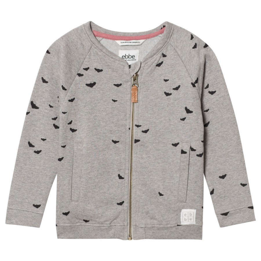 Ebbe Kids Fifty Bomber Sweat Jacket Black Woodpeckers Oloasun Paita