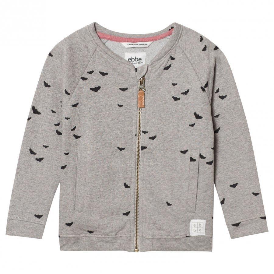 Ebbe Kids Fifty Bomber Sweat Jacket Black Woodpeckers Oloasun Paita