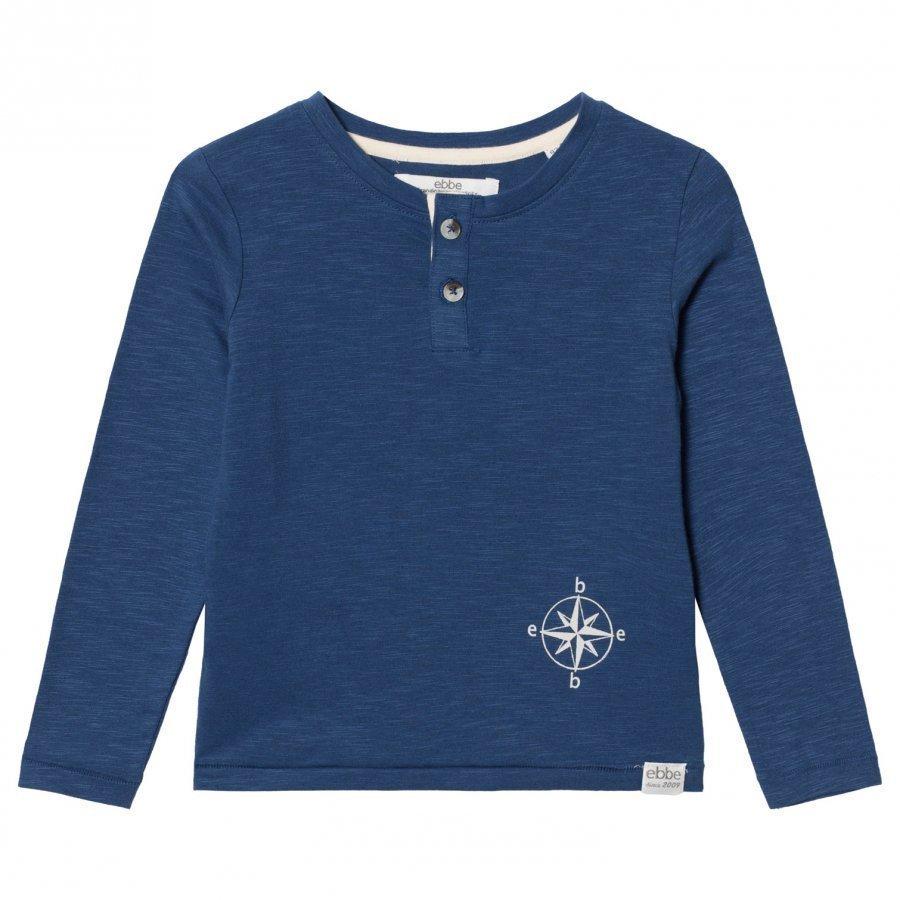 Ebbe Kids Harald Grandpa Tee Nordic Blue Pitkähihainen T-Paita