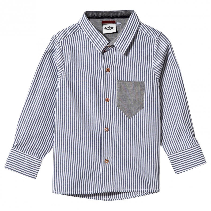 Ebbe Kids Hasse Shirt Blue/White Stripe Kauluspaita