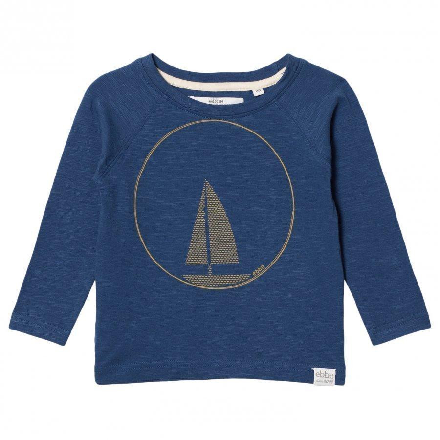 Ebbe Kids Henry Raglan Tee Nordic Blue T-Paita