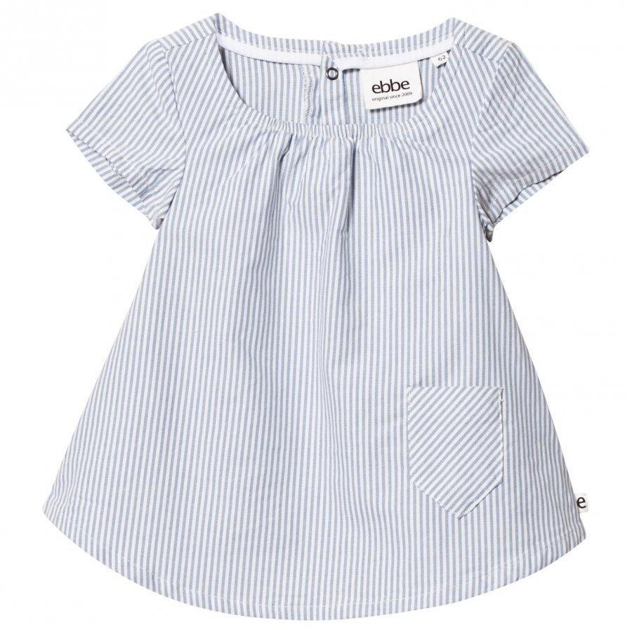 Ebbe Kids Janja Dress Off-White Blue Stripe Mekko