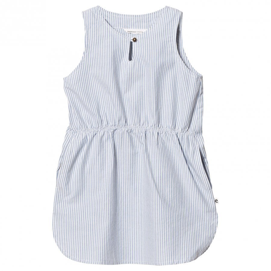 Ebbe Kids Jelena Dress Off-White Blue Stripe Mekko