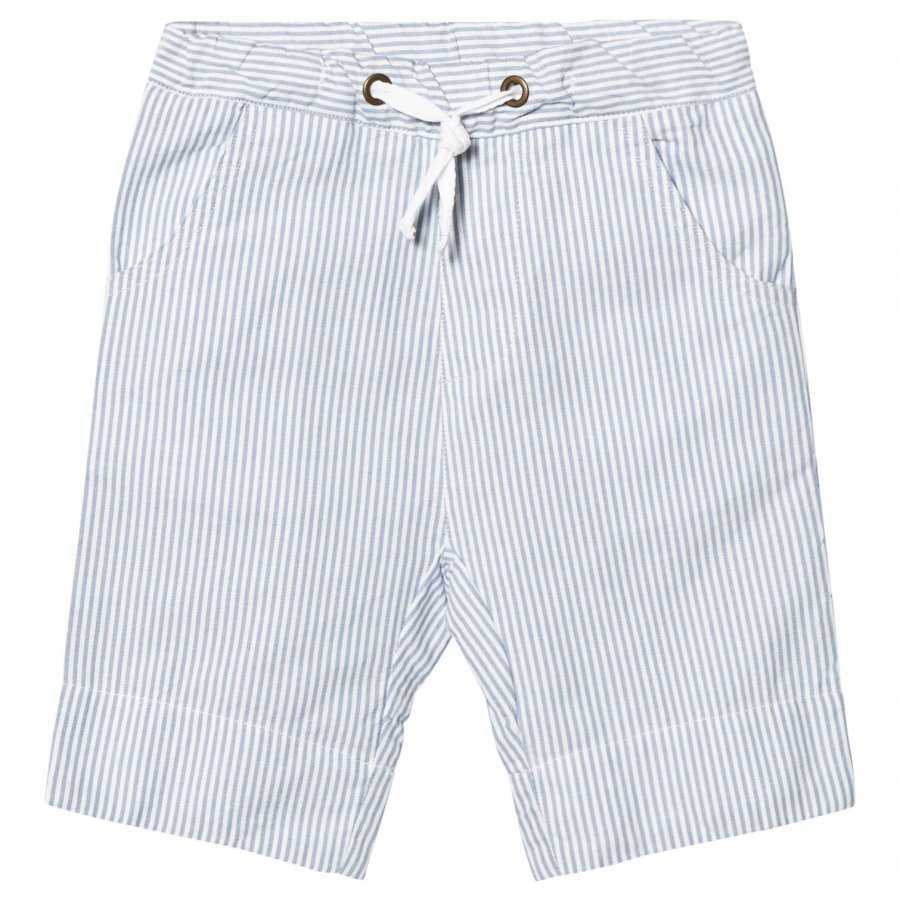 Ebbe Kids Joel Low Crotch Shorts Off White/Blue Stripes Juhlashortsit