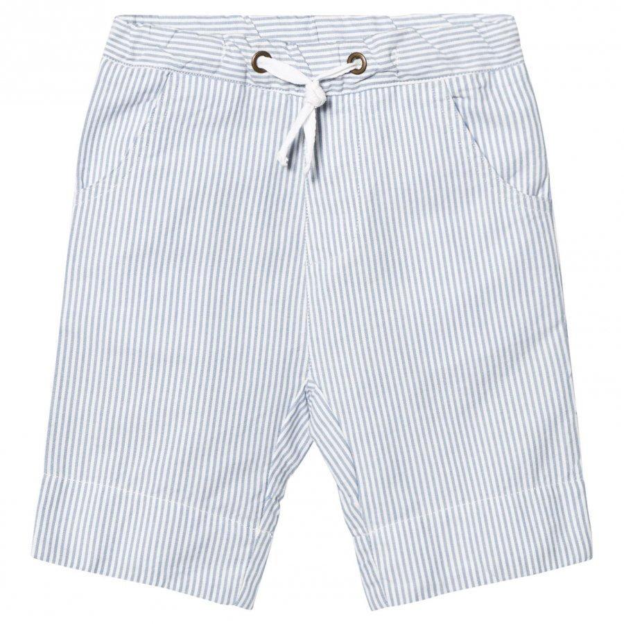 Ebbe Kids Joel Low Crotch Shorts Off White/Blue Stripes Juhlashortsit