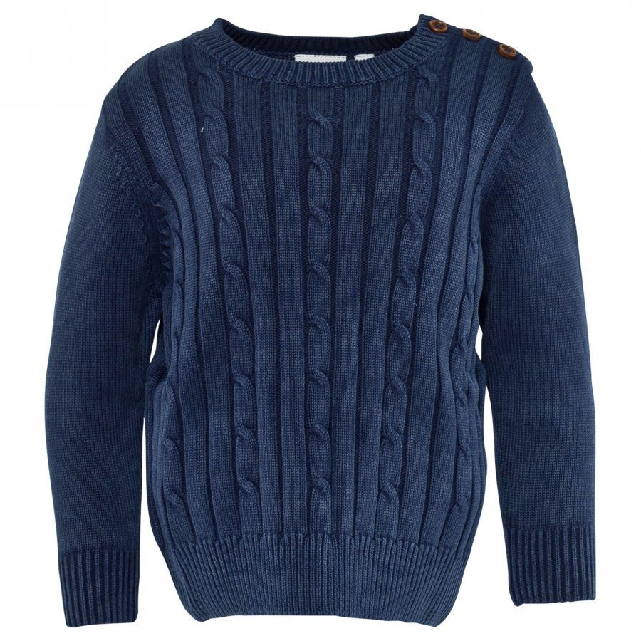 Ebbe Kids Nat Cable Knit Sweather Indigo Blue Oloasun Paita
