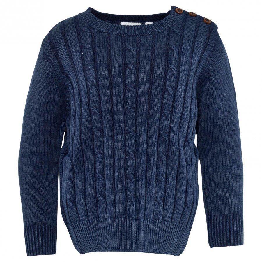 Ebbe Kids Nat Cable Knit Sweather Indigo Blue Oloasun Paita
