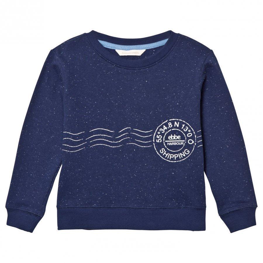 Ebbe Kids Sacke College Sweater Sea Blue Neps Oloasun Paita
