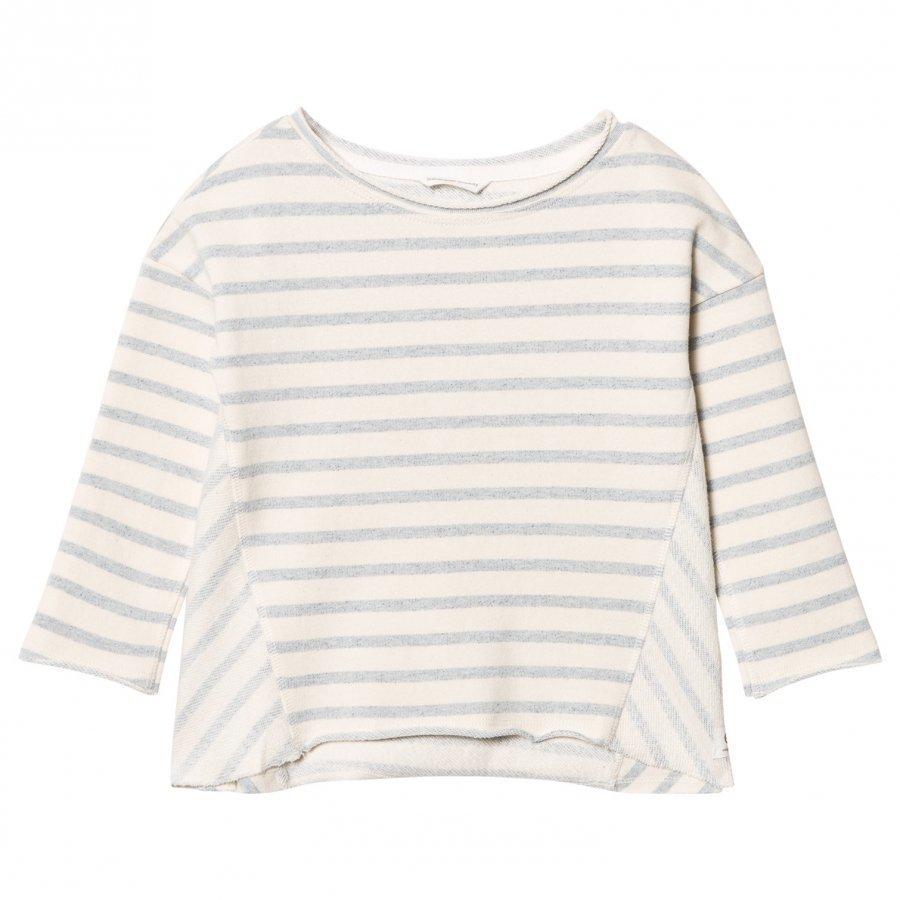 Ebbe Kids Sadie Sweatshirt Blue Fog Stripes Oloasun Paita