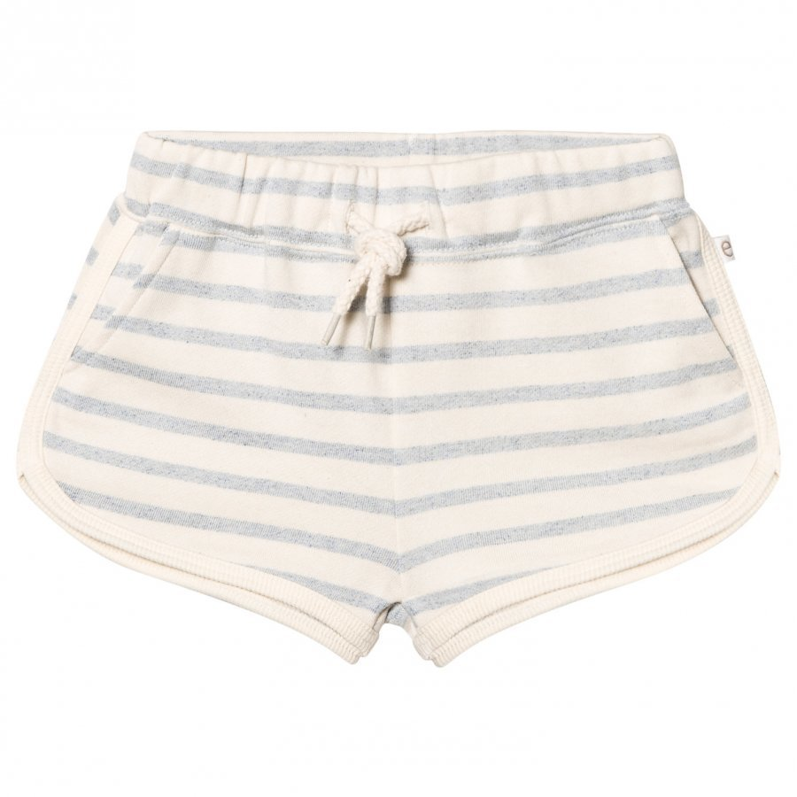 Ebbe Kids Saga Sweat Shorts Blue Fog Stripes Oloasun Shortsit