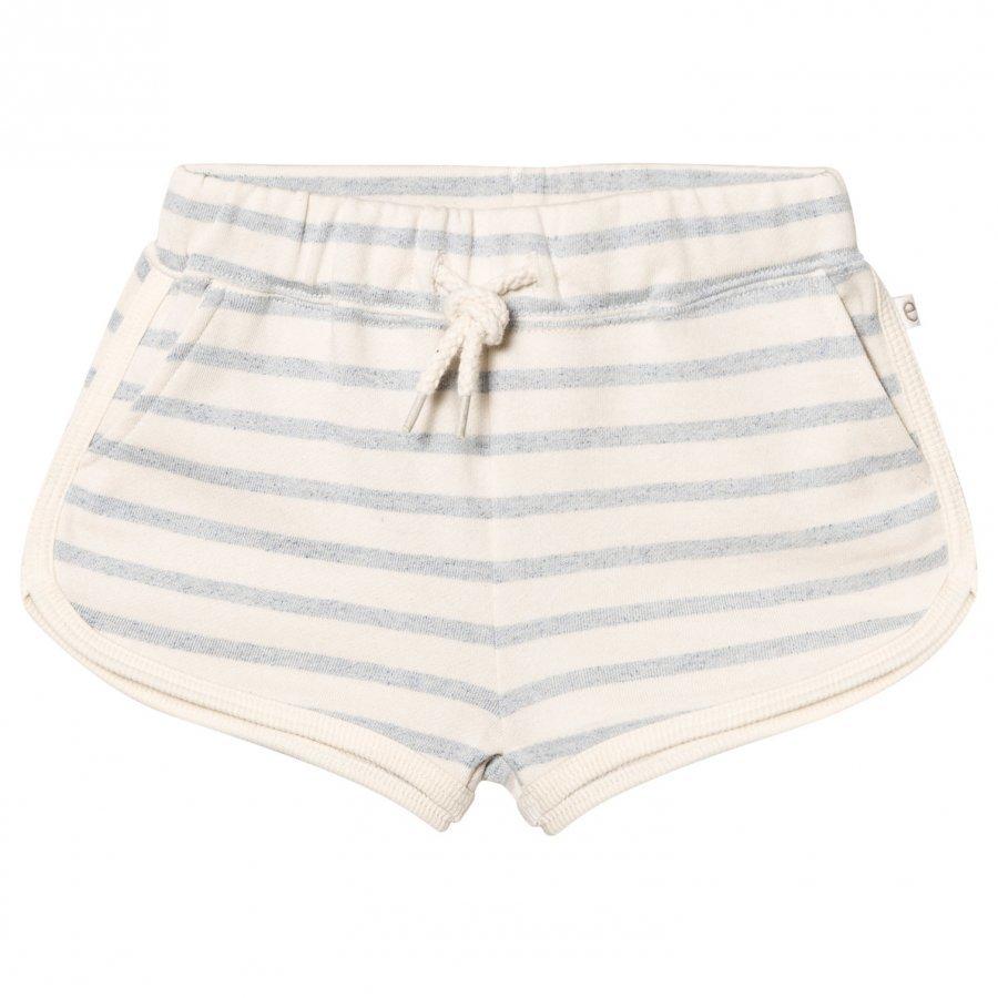 Ebbe Kids Saga Sweat Shorts Blue Fog Stripes Oloasun Shortsit