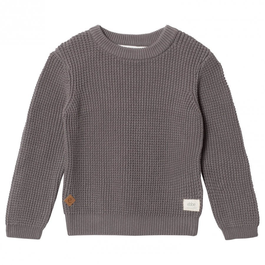 Ebbe Kids Sempre Knitted Sweater Grey Waffle Oloasun Paita