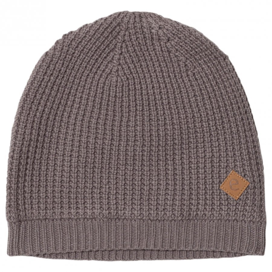 Ebbe Kids Simson Knitted Beanie Grey Waffle Pipo