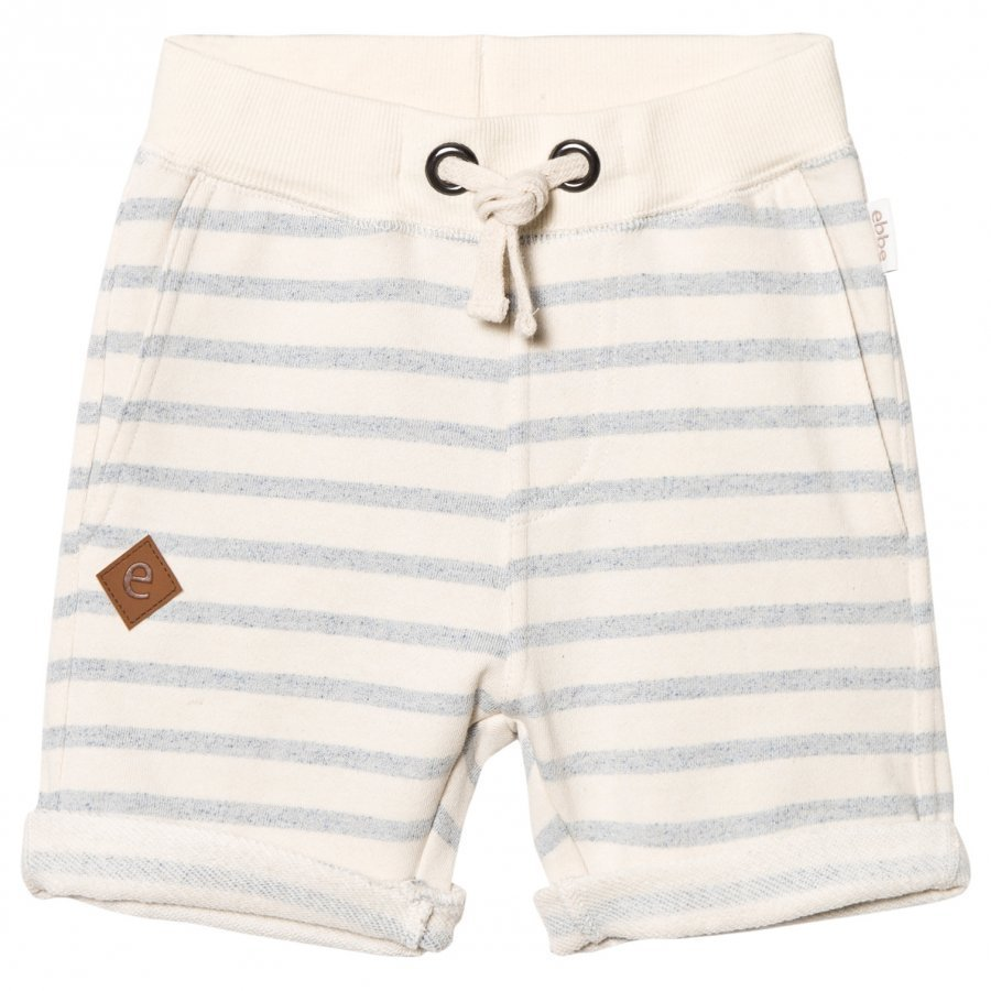 Ebbe Kids Sixten Sweat Shorts Blue Fog Stripes Oloasun Shortsit