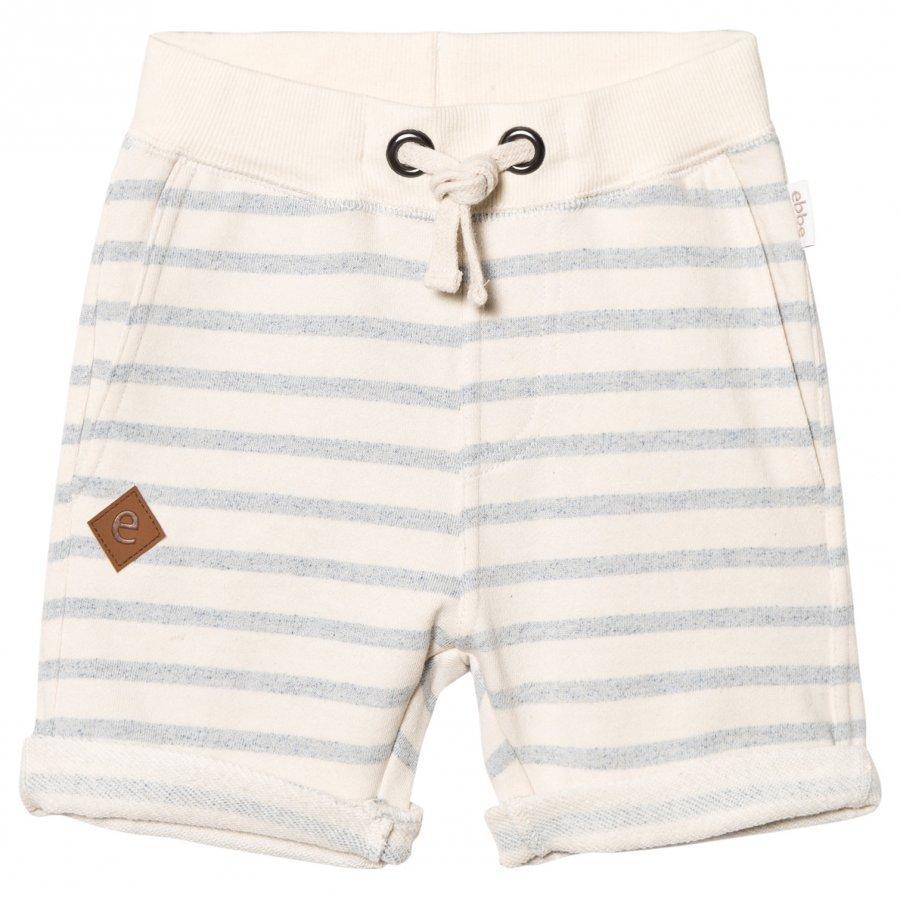 Ebbe Kids Sixten Sweat Shorts Blue Fog Stripes Oloasun Shortsit