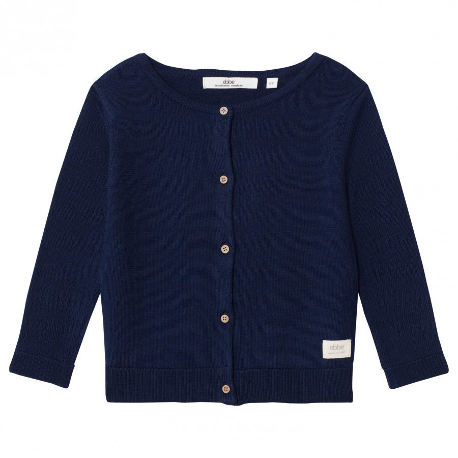Ebbe Kids Smila Knitted Cardigan Deep Navy Neuletakki