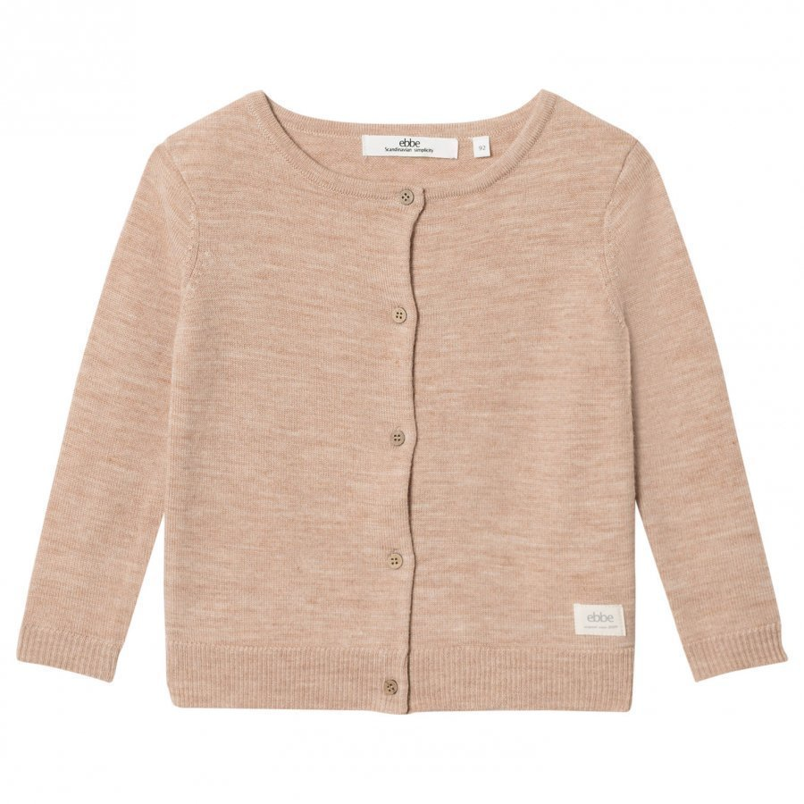 Ebbe Kids Smila Knitted Cardigan Warm Sand Neuletakki