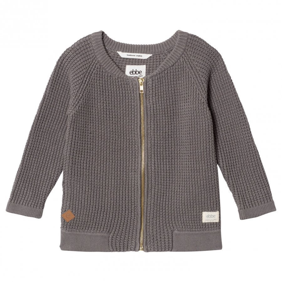Ebbe Kids Snow Knitted Jacket Grey Waffle Paita