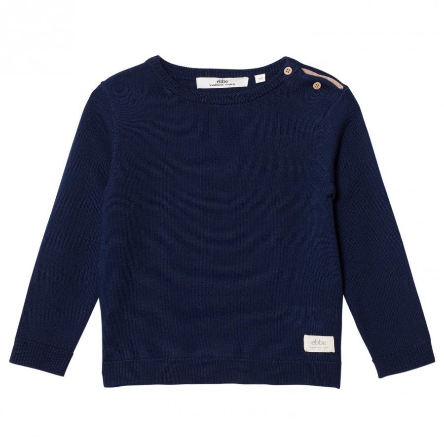 Ebbe Kids Sune Knitted Sweater Deep Navy Oloasun Paita