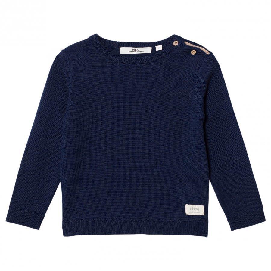 Ebbe Kids Sune Knitted Sweater Deep Navy Oloasun Paita