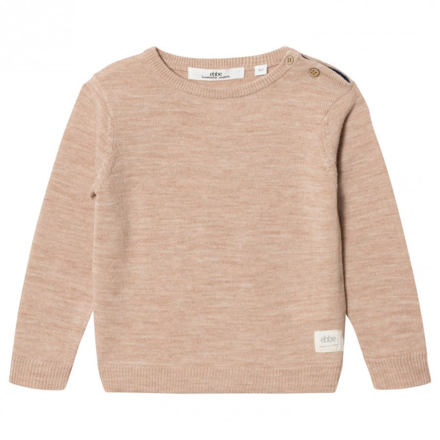 Ebbe Kids Sune Knitted Sweater Warm Sand Oloasun Paita