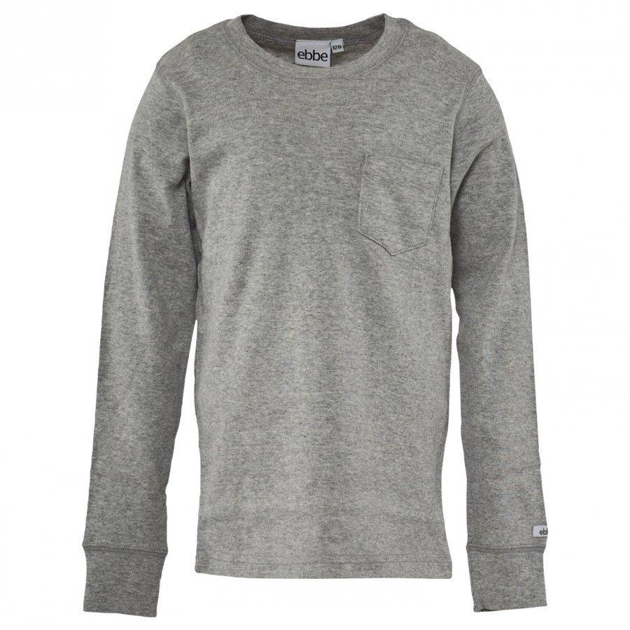Ebbe Kids T-Shirt Eskil Grey Pitkähihainen T-Paita