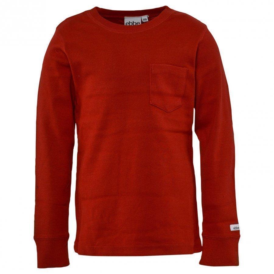 Ebbe Kids T-Shirt Eskil Red Pitkähihainen T-Paita