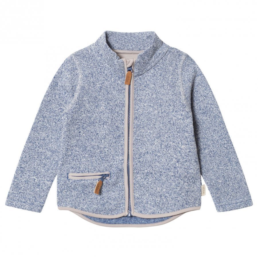 Ebbe Kids Tem Fleece Jacket Washed Navy Fleece Takki