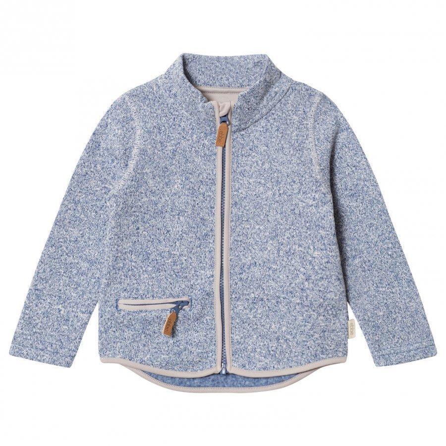 Ebbe Kids Tem Fleece Jacket Washed Navy Fleece Takki