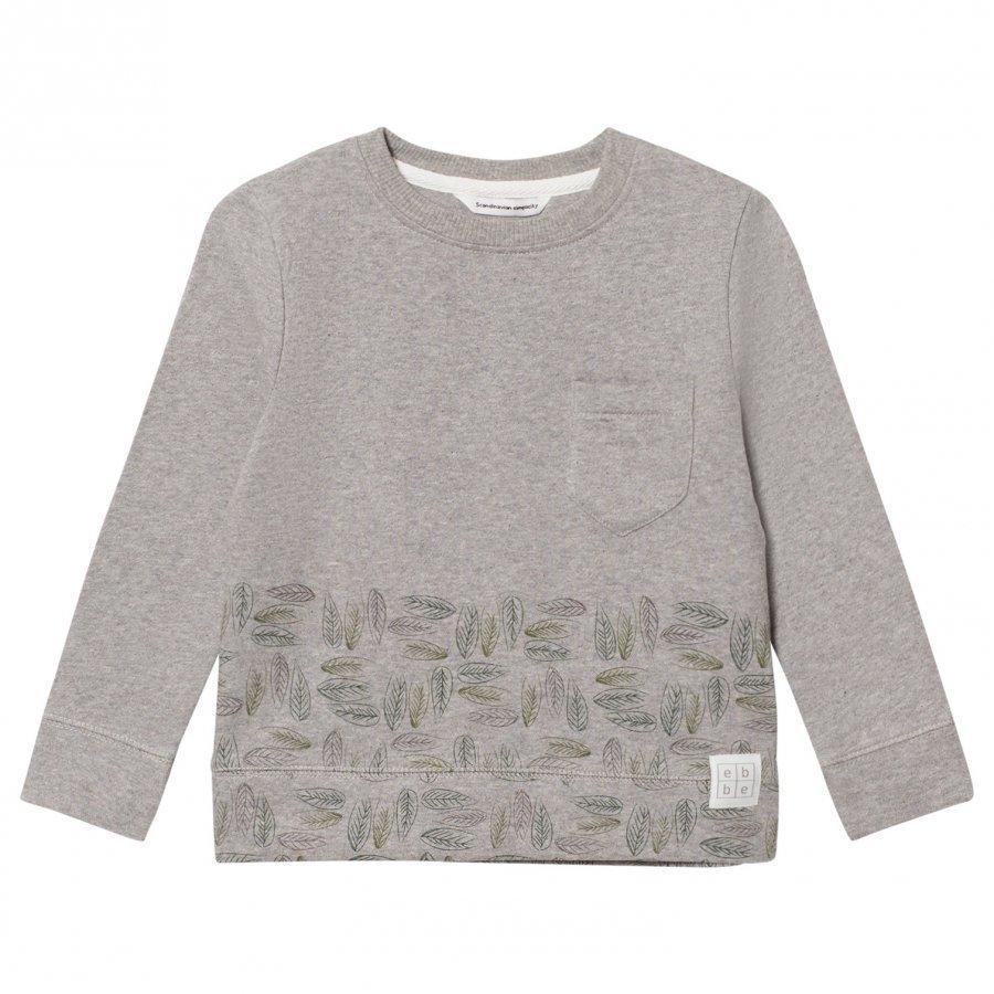 Ebbe Kids Urban Sweatshirt Grey Placed Leafs Oloasun Paita