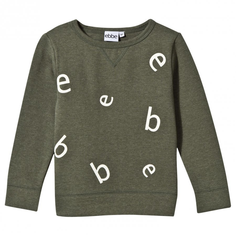 Ebbe Kids Znow Letter College Sweater Soft Nature Green Oloasun Paita