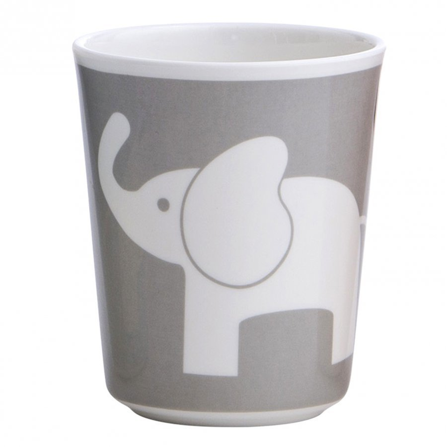 Elephant Melamine Glass Elefant Dark Grey Muki