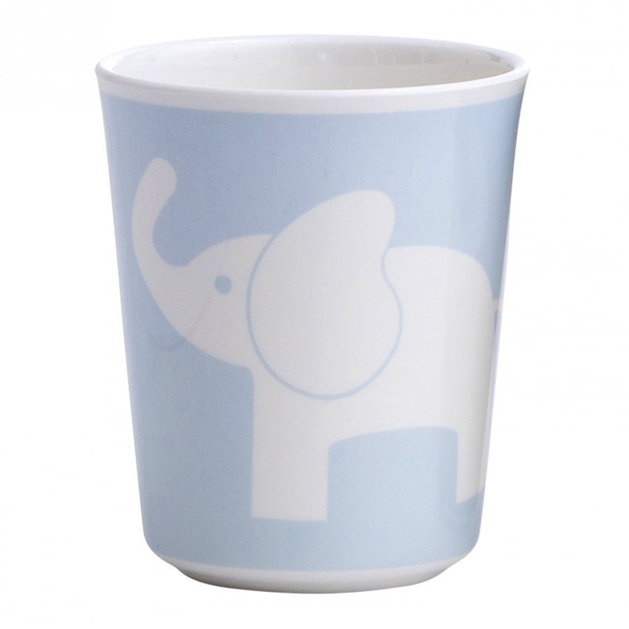 Elephant Melamine Glass Elephant Light Blue Muki