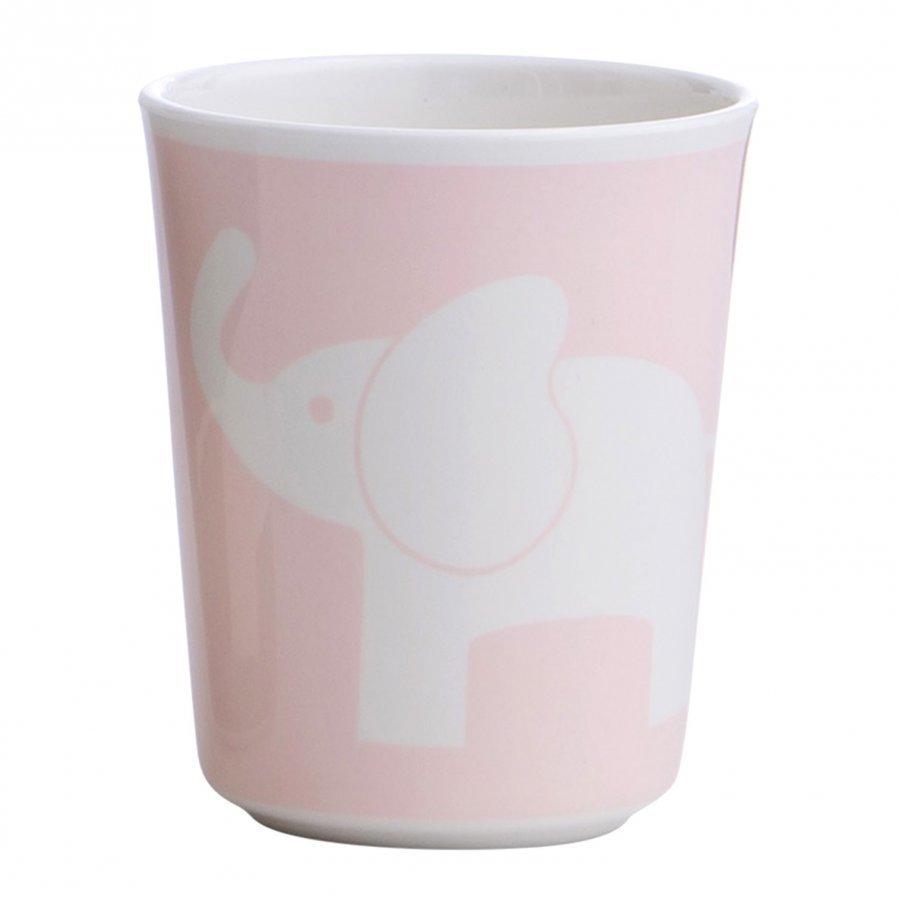 Elephant Melamine Glass Elephant Pink Muki