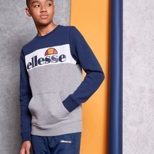 Ellesse Colour Block Fleece Crew Sweatshirt Harmaa