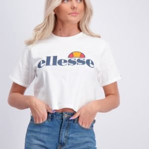 Ellesse Nicky Crop T Shirt T-Paita Valkoinen